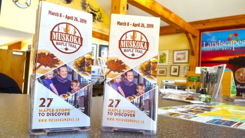 Where to pick up your Muskoka Maple Trail Map?